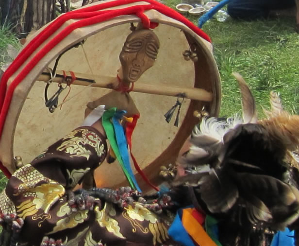 Mongolian Shaman Drum by Kevin Turner