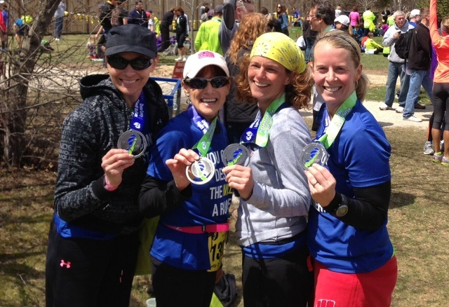 Some Of The Team Members From The Undercovers After Completing The Door  County Half Marathon.