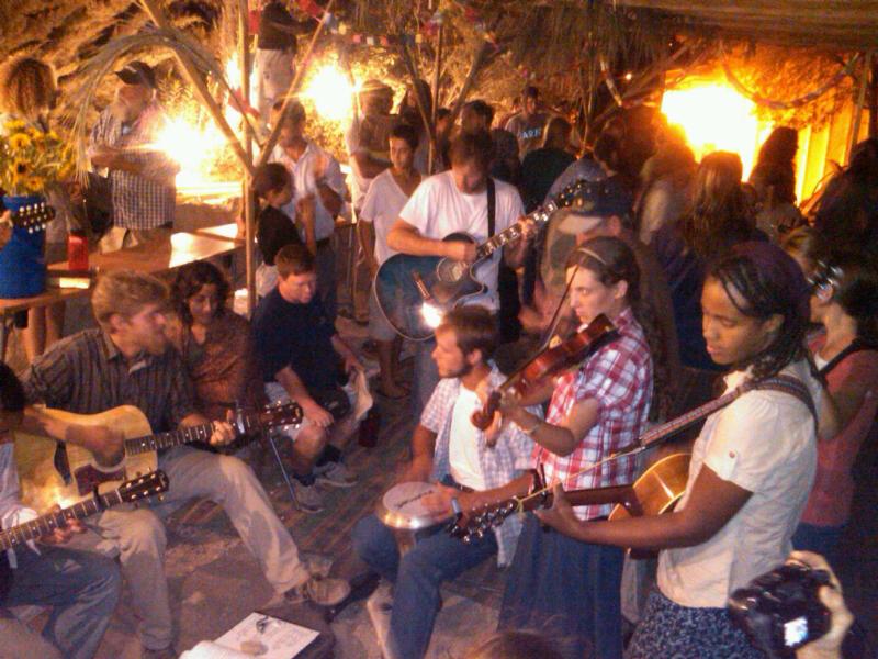 crowded sukkah