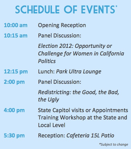Schedule for Women's Empowerment Day