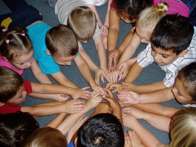 Kids hands together