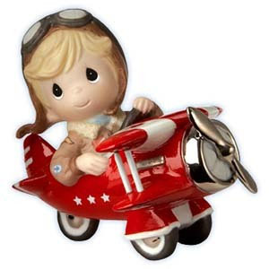 Boy in Red Biplane