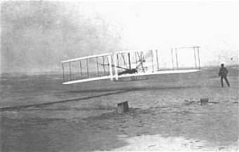 Take-off of the 1903 Wright Flyer