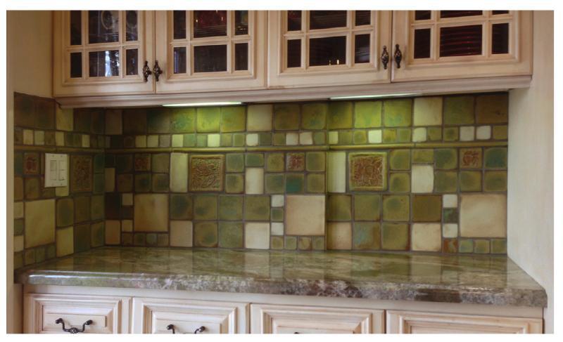 Pasadena craftsman green kitchen