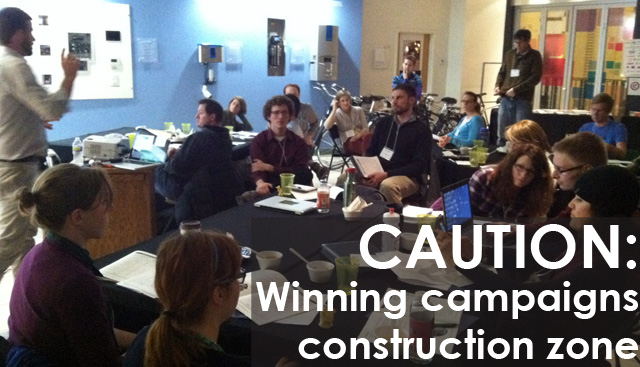 Clevelant Winning Campaign construction zone