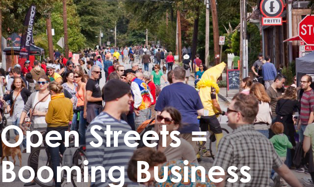 Open streets business
