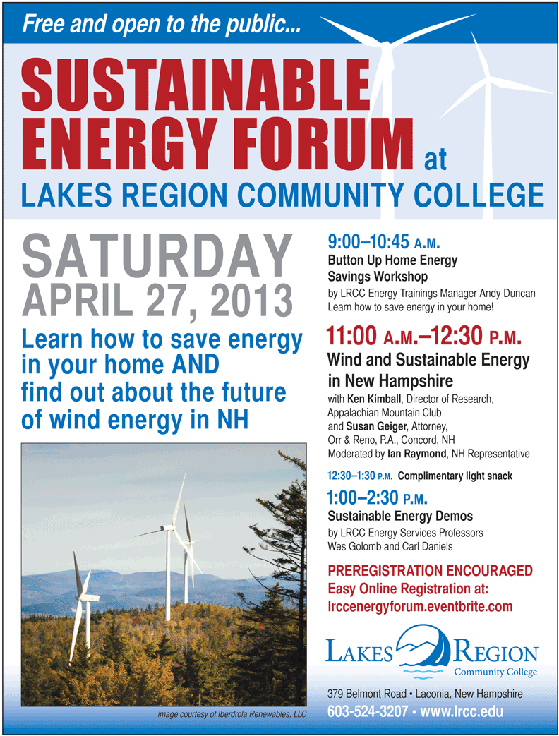 Apr27'13 Sustainable Energy Forum