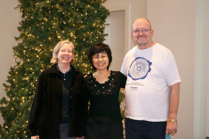 Judy Sherman Chizuko Sawa and Andy