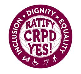 Circle that says Ratify CRPD Yes