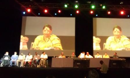 Newly Elected DPI Executive Council on stage at the world assembly