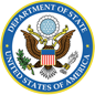 Seal for the US Department of State image of eagle inside blue circle