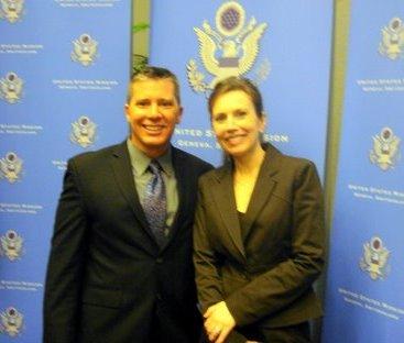 David Morrissey and Joan Durocher at UPR in Geneva