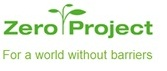 The logo for the zero porject which is green and includes a leafy branch
