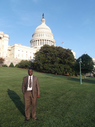 Jean de Dieu Mukunzi at the U.S. Capitol