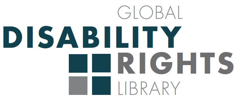 GDRL Logo: Global Disability Rights Library