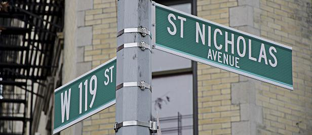 119th & St. Nicholas Sign