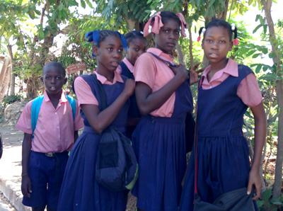 Children at Jacmel school