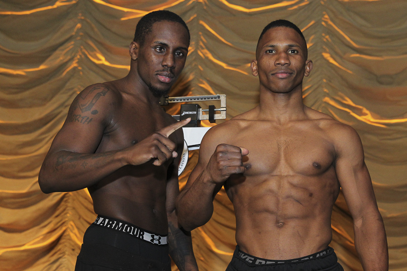 Ryan Kielczweski, Tony Harrison - UNCASVILLE, Conn. (April 16, 2015) -- The official weigh-in was held today for tomorrow night's ESPN Friday Night Fights triple-header, presented by DiBella Entertainment, in Mohegan Sun Arena.