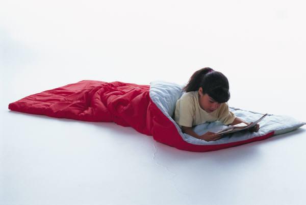 girl in sleeping bag