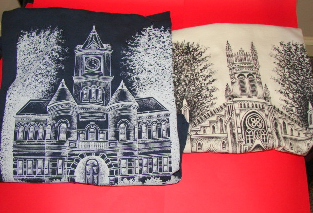 Courthouse & Church Tea Shirts