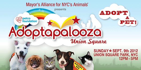 Adoptapalooza Union Square - Sunday, September 9, 2012