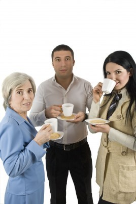 3 People Drinking Coffee
