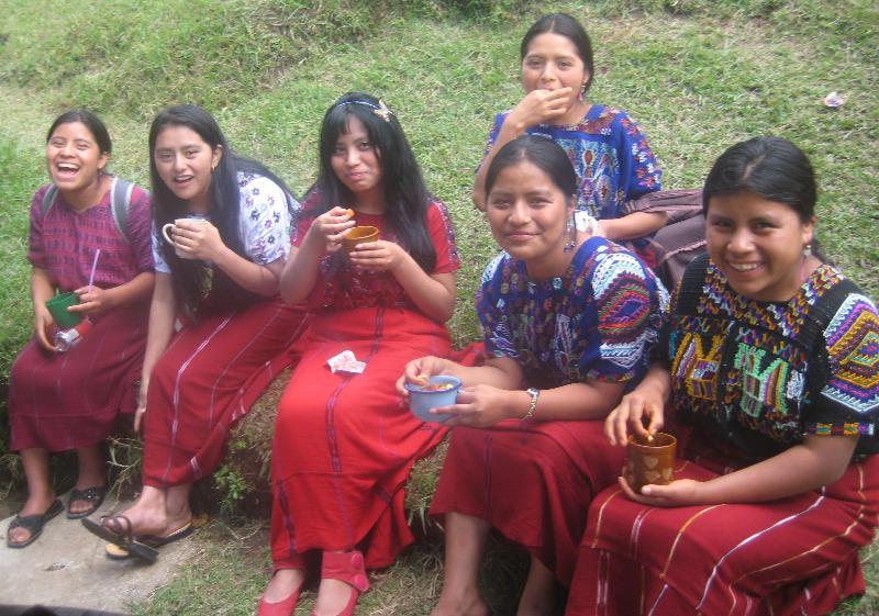 LHI girls enjoy fresh fruit sald during the end of year field trip