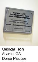 GA Tech Donor Plaques