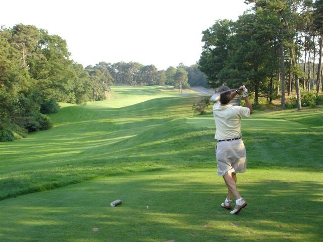 Michael golfing