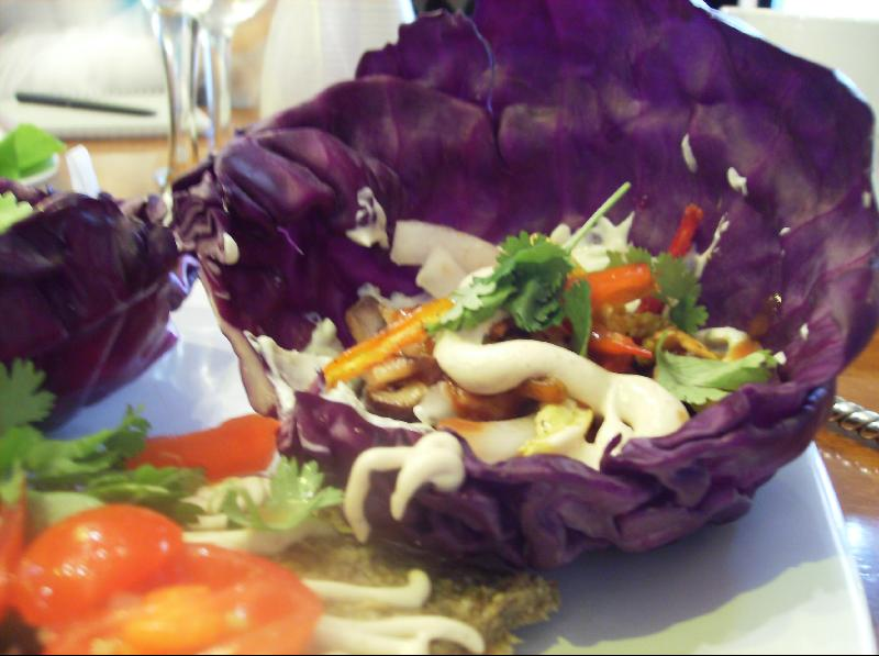 Cabbage Leaf Fajita