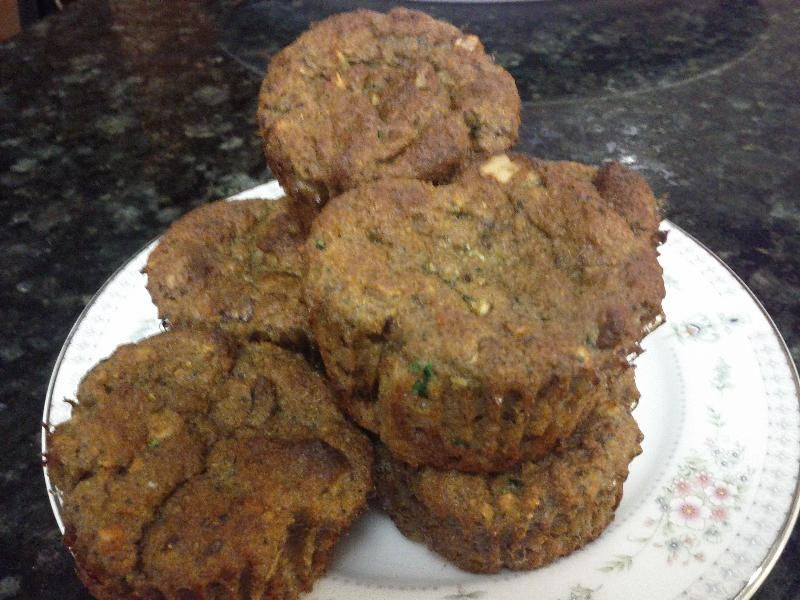 Apple Walnut Zuchinni Muffins