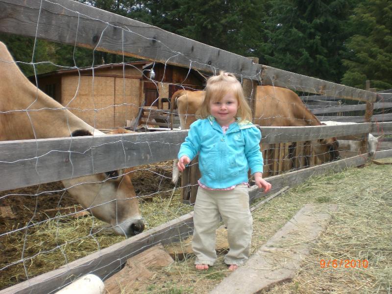 Abigail at the farm