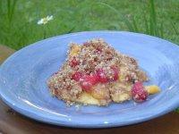 Raspberry Mango Cobbler