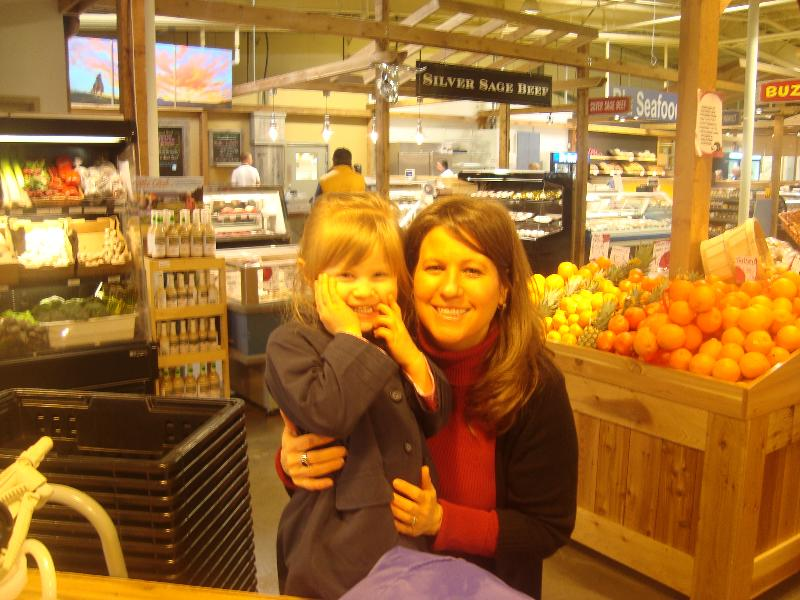 Tonya & Abigail at Calgary Farmers Market