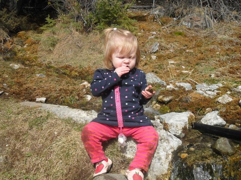 Abigail in Banff at the Spring