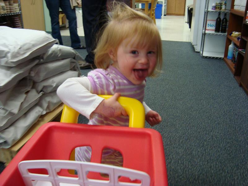 Abigail shopping
