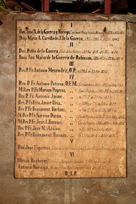 Crypt Burial List