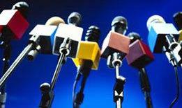 press microphones