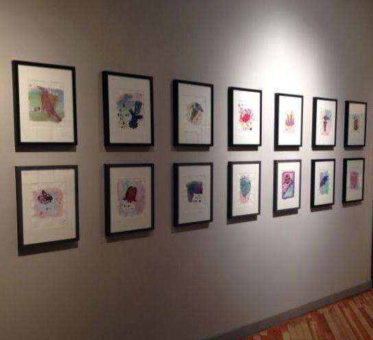 UDA installation view of student artwork and Quinten Mosely's work at Jordan Faye Contemporary