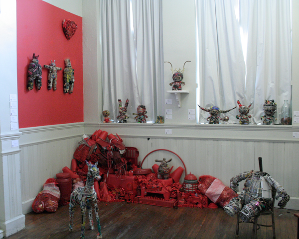 Donald Edwards, Installation of Junk Warriors, assemblage
