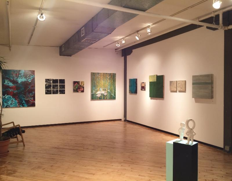 installation view of the west gallery for UDA 2016