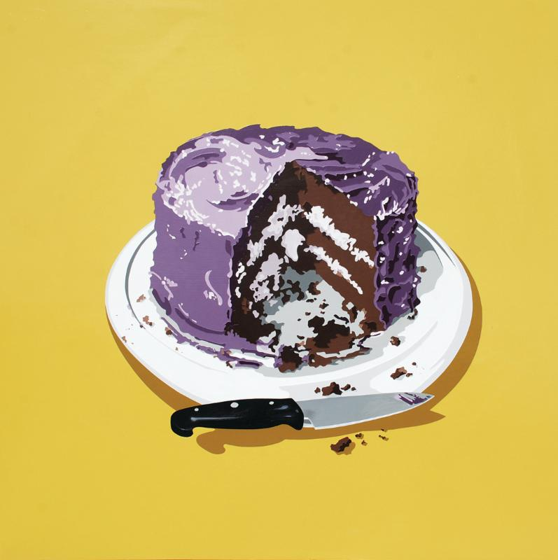 Lori Larusso Afterparty with purple frosting