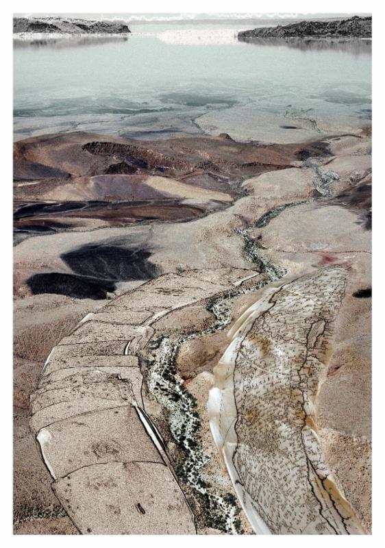 Dorit Feldman, Syrian-African Rift Valley, Tectonic Motion, 2013, inkjet print on archival paper