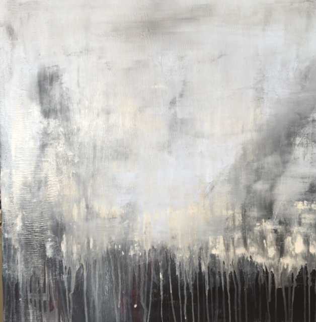 Susan Wolfe Huppman, Drench, acrylic on canvas, 24 x 24 inches