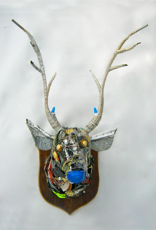 Donald Edwards, Stag, 2013, found junk, string