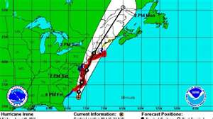 Hurricane Irene Path