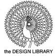The Design Library peacock logo