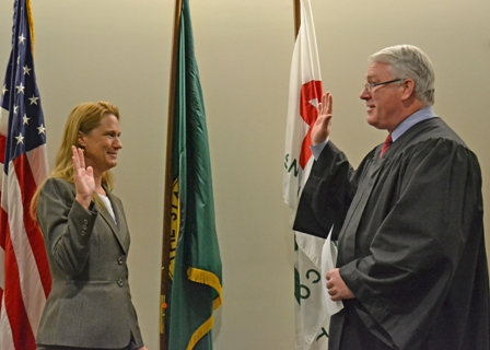 Snohomish County Superior Court Judge Joe Wilson administered my oath of office for a new four-year Council term on January 3, 2012.
