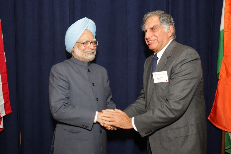 PM Singh with Ratan Tata