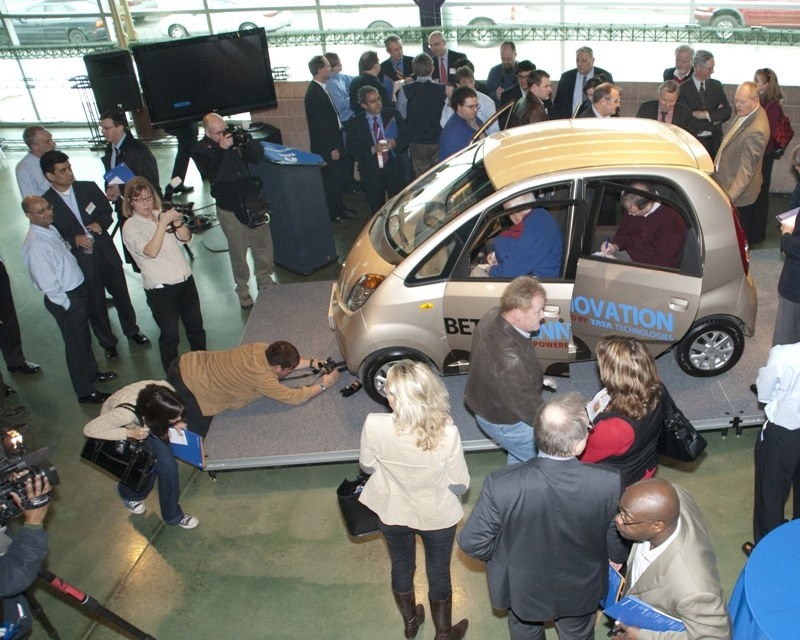 Tata Nano on Display